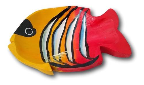 Gamela/travessa De Madeira Peixe Decoração Ref. 0644