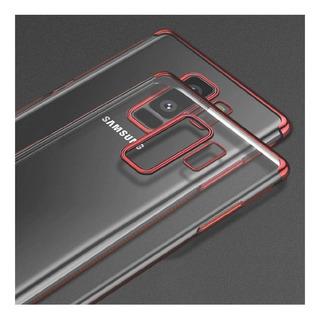 Protector Samsung Galaxy S9 Plus Transparente Bordes Rojos
