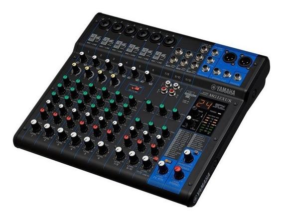 Mesa De Som Yamaha Mg12xuk 12 Canais Mg12 Nfe + Garantia