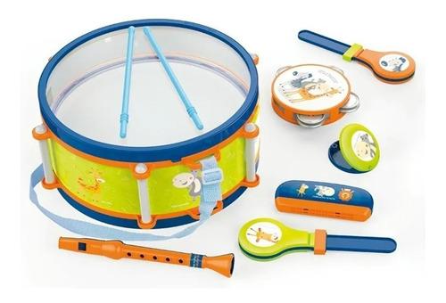 Imagen 1 de 1 de Set Musical Infantil 8 Instrumentos Tambor Flauta Armonica