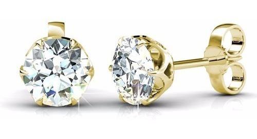 Arete Broquel De Diamante 100% Natural .20 Cts Si1 I