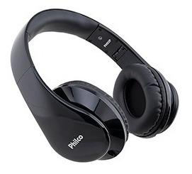 Fone De Ouvido Philco Ph02p Preto C/microfone E Plug Trrs