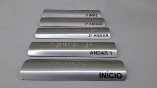 4 Placas Sinalização Braille Para Corrimão