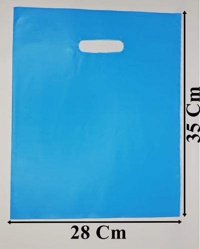 Kilo Bolsa Tipo Boutique 28x35 Cm Color Azul