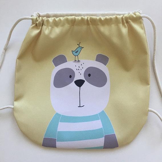 Mochila Bolsita Infantil Con Diseños De Animales