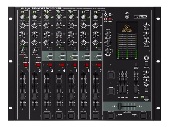 Mixer Behringer Digital Pro Usb Dx2000usb C/ Phantom Power 7