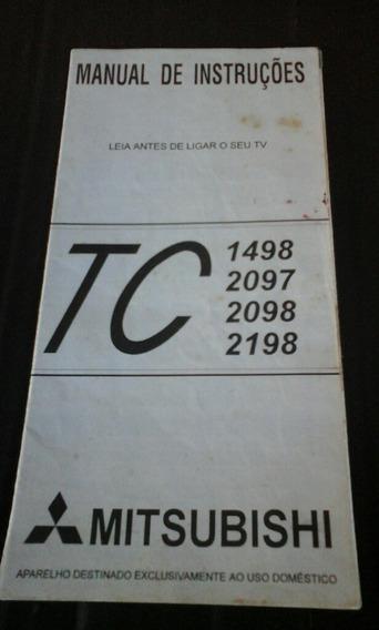 Manual De Instruções Televisão Mitsubishi Tc 1498 2097 20
