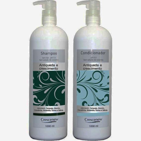 Shampoo E Condicionador Anti-queda Crescenew 1 Litro - Alumã