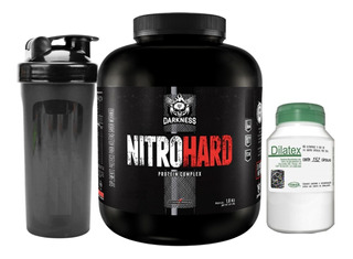Whey Nitro Hard 1,8kg Integral + Dilatex 152 Cáp + Coq Brind