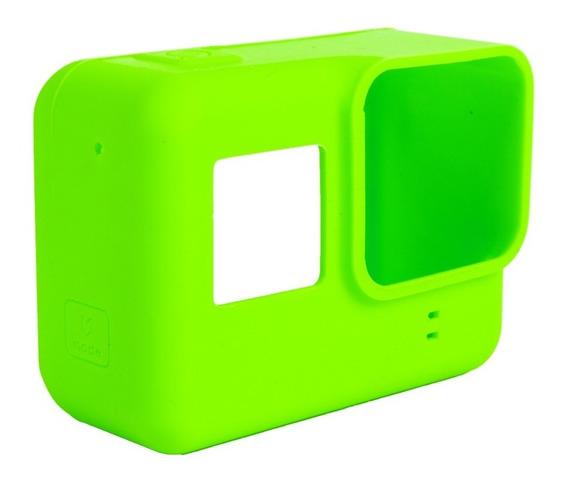 Case Capa Silicone Gopro Hero 2018 5 6 7 Black Cor Verde
