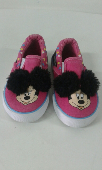 Zapatos Mini Mouse 100% Originales Disney Talla 23