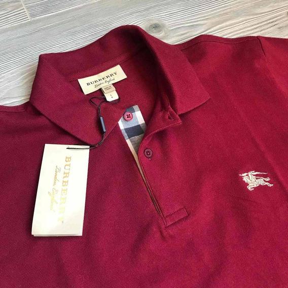 Polo Burberry Color Vino Clasica Original