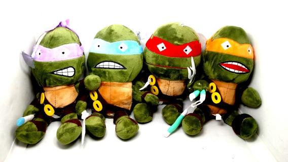 Kit 10 Pelúcias Músical Tartarugas Ninjas