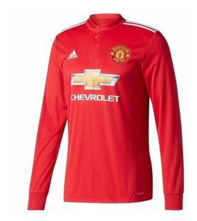 Camisa Manchester United Home 17-18 Manga Longa Importada