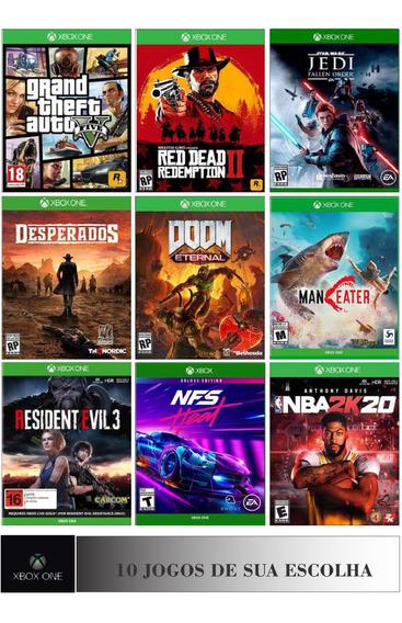 Combo 10 Jogos Xbox One Digital