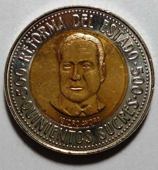 Ecuador Moneda Bimetalica Reforma Del Estado 500 Sucres 1995