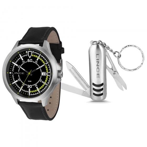 Relógio Lince Mrc4358s Kt39p2px Kit Chaveiro Masc - Refinado