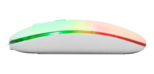 Imagen 1 de 10 de Mouse Gamer Inalambrico Raton Con Luz Led Rgb Usb Recargable