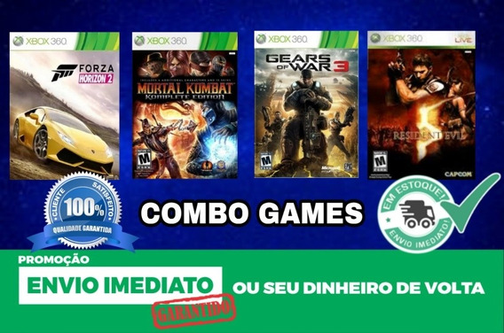 Combo - Forza H2 + Re5 + Mk + Gears 3 + Brindes - Xbox 360