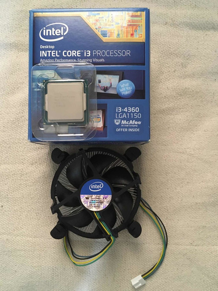 Processador I3 4360 3.70ghz Na Caixa C/ Manual Cooler Novo
