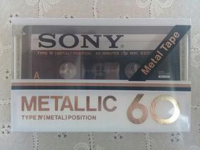 Fita K7 Cassete Sony Metallic 60 Metal Type Iv Lacrada Rara