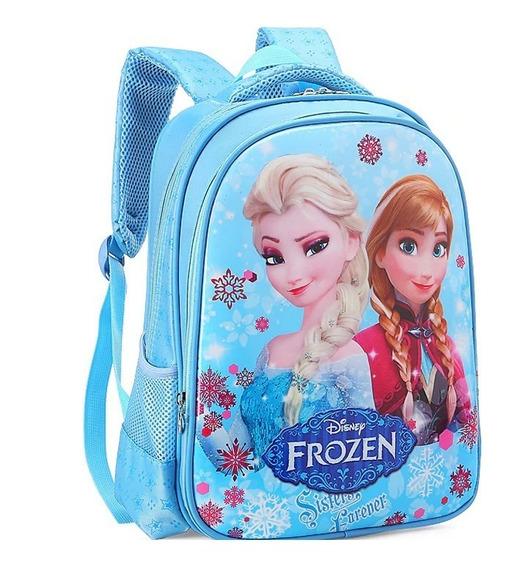 Mochila Frozen Bolsa Escolar Princesas Disney Infantil Irmãs