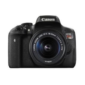 Câmera Digital T6i Lente 18-55mm Canon + 1 Bateria Extra