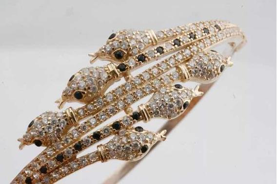 Bracelete Jóia Turca Prata Cobras
