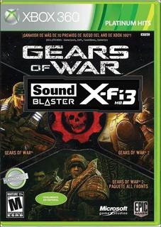 Gears Of Wars Pack Triple Xbox 360 Usado Fisico 2 Discos