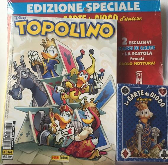 Topolino 3324 + Baralho Azul - Panini - Bonellihq I19