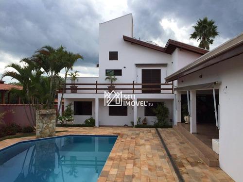 Imagem 1 de 9 de Casa Com 5 Dormitórios À Venda, 380 M² Por R$ 1.350.000,00 - Condomínio Zuleika Jabour - Salto/sp - Ca1763