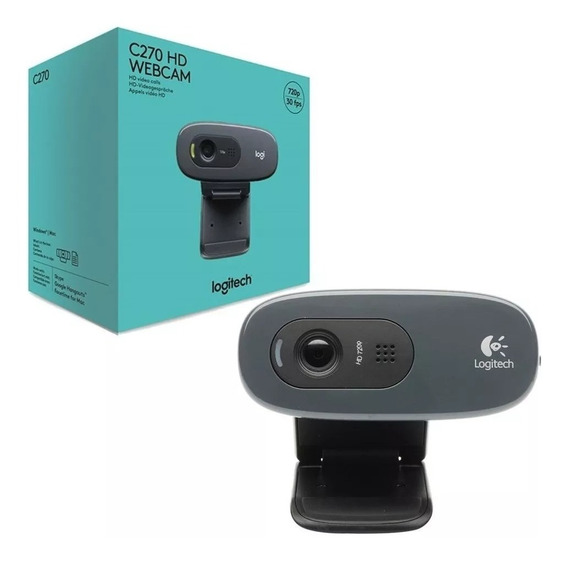 Webcam Logitech C270 Hd 720p Pc Notebook C/ Nfe