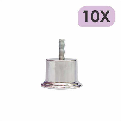 Imagem 1 de 4 de Kit 10 Mini Pé Cama Box Baixo Castor Gazin Ortobom 3,5cm