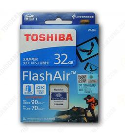 Cartão De Memória Sd Wifi Toshiba Flashair 32gb + Brinde