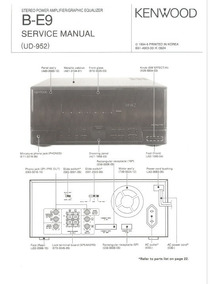 Kenwood - Model B-e9 - Manual De Serviço