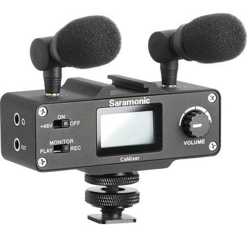 Interface De Áudio Estéreo Saramonic Camixer Para Câmeras