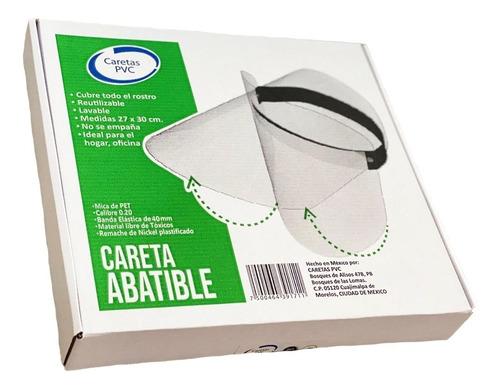 Kit De 50 Caretas Abatibles + 10 Cubre Bocas + 1 Liquido