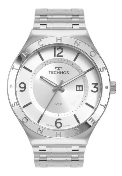 Relógio Technos Masculino Steel Prateado 2117lbt/1k