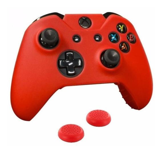 Kit Xbox One Capa Silicone + Par Grips Analógicos Controle