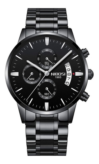 Relógio Nibosi Masculino 2309 Preto Original + Frete Grátis