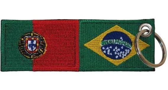 Bordado Patch Termocolante Bandeira Portugal Brasil Bd50280