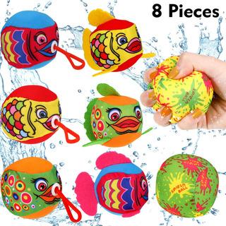 8 Piezas De Juego De Bolas De Salpicaduras De Agua Coloridas