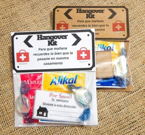 100 Kit Anti-resaca Hangover Souvenir Para Casamiento Boda