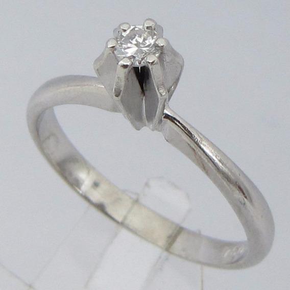 2323 Anel Solitário Em Ouro 18k Com Diamante Vazado Ou Solit