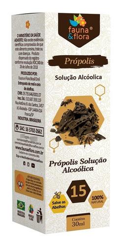 Imagem 1 de 7 de Própolis Marrom Alcoólico 15% Fauna E Flora Imunidade 30ml