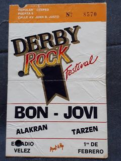 Entrada Antigua Bon Jovi Recital Bs. As.01/02/1990