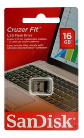 Kit 10 Pen Drive 16gb Nano Sandisk Cruzer Fit Z33 Original