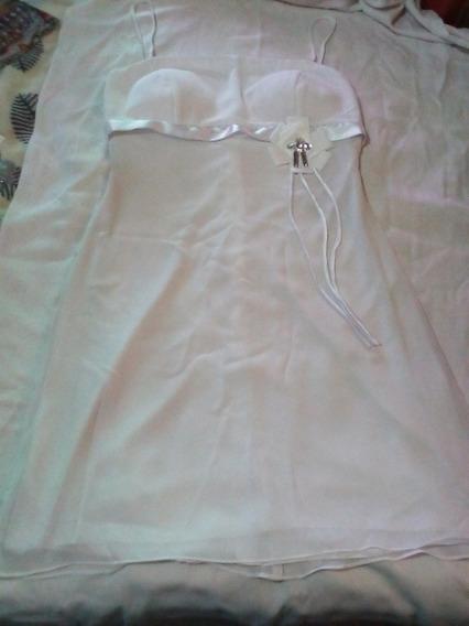 Vestido Para Dama Talla 7 Color Blanco Nuevo