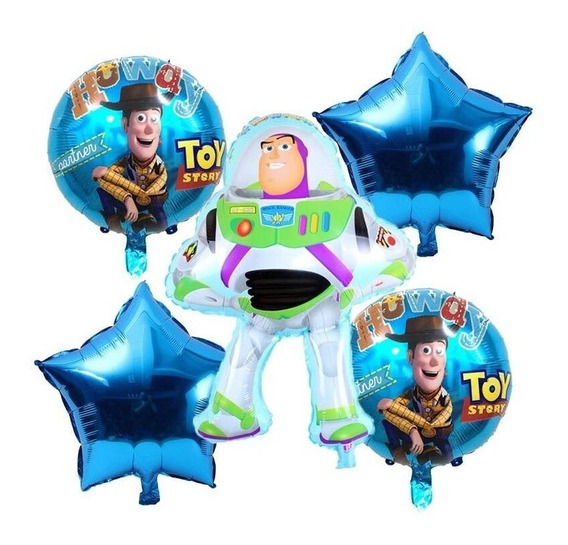 Globo Metalico Buzz Lightyear Toy Story 5pz
