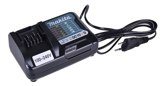 Carregador De Bateria Ion De Lítio 12v Dc10wd Makita -bivolt